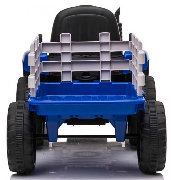 12v Kids Battery Ride on Tractor and Trailer - Blue-19046