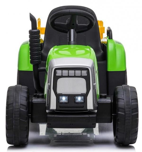 12v Kids Battery Ride on Tractor and Trailer - Green-19017