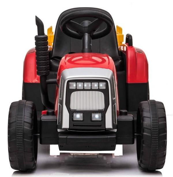 12v Kids Battery Ride on Tractor and Trailer - Red-19029