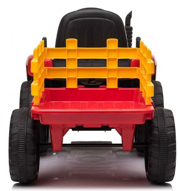 12v Kids Battery Ride on Tractor and Trailer - Red-19031