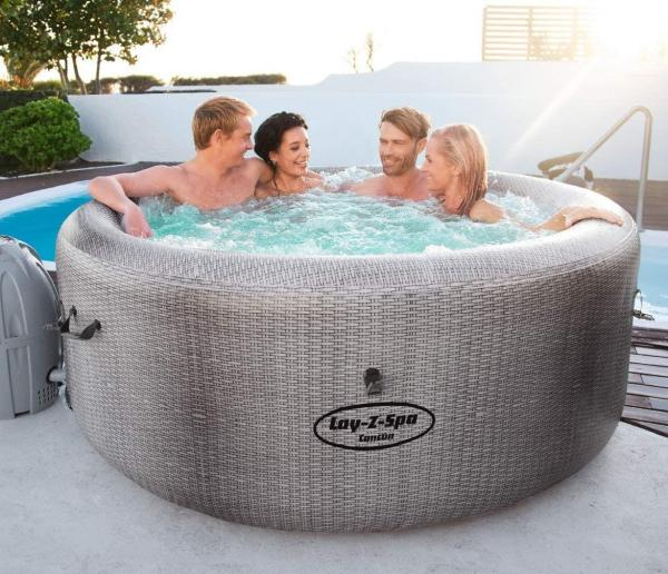 Bestway Lay-Z-Spa Cancun Airjet Rattan Design Hot Tub 2-4 adults-0