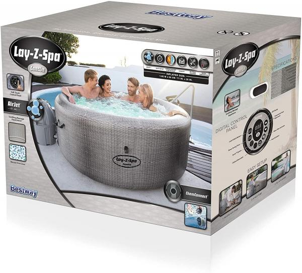 Bestway Lay-Z-Spa Cancun Airjet Rattan Design Hot Tub 2-4 adults-19935
