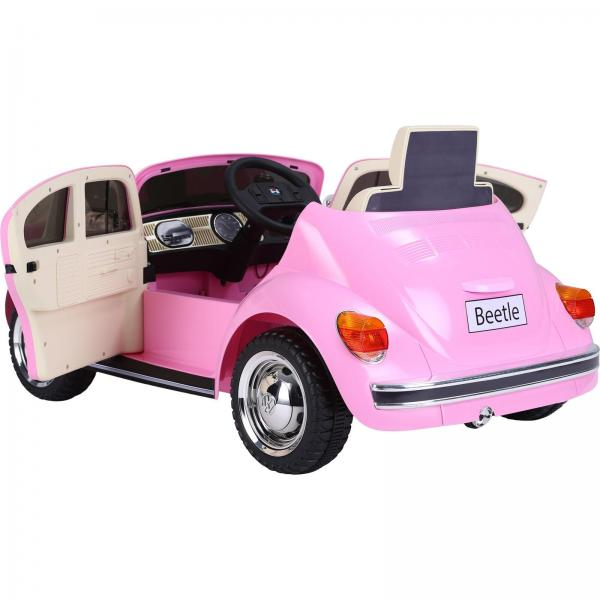 Licensed Classic VW Convertible Beetle 12V Ride On Car - Pink-20105
