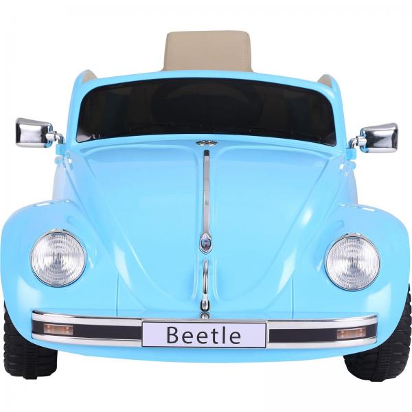 Licensed Classic VW Convertible Beetle 12V Ride On Car - Blue-20120