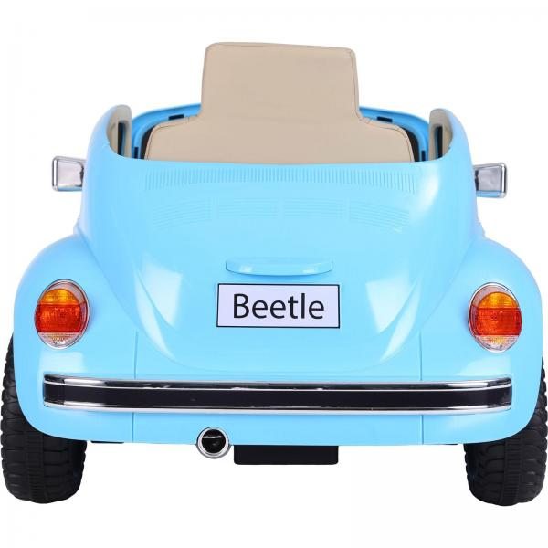 Licensed Classic VW Convertible Beetle 12V Ride On Car - Blue-20122