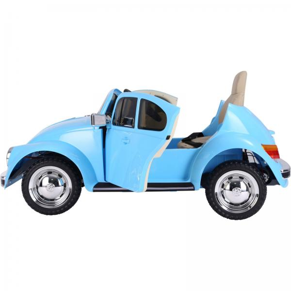Licensed Classic VW Convertible Beetle 12V Ride On Car - Blue-20119
