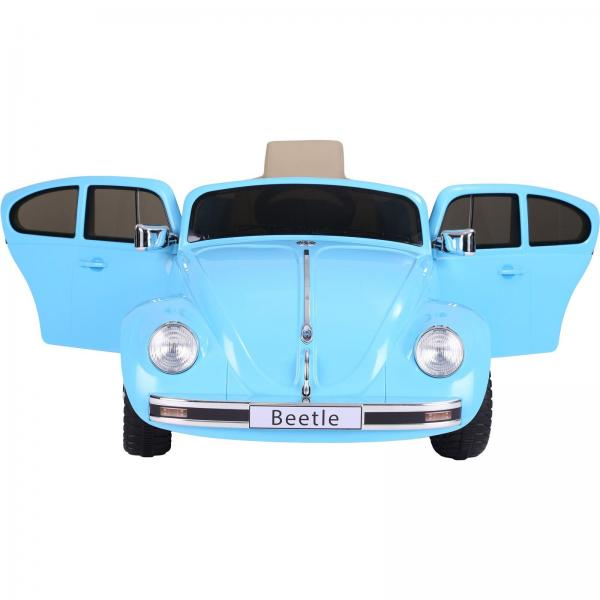 Licensed Classic VW Convertible Beetle 12V Ride On Car - Blue-20121