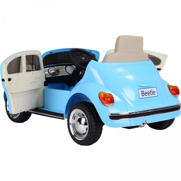 Licensed Classic VW Convertible Beetle 12V Ride On Car - Blue-20123
