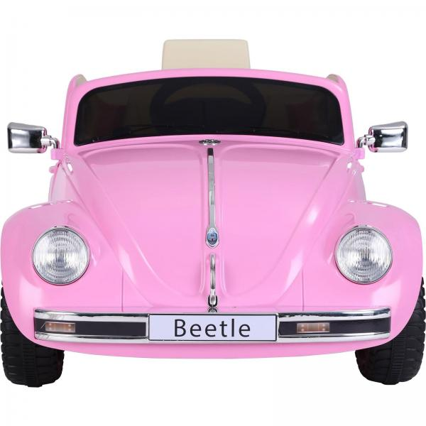 Licensed Classic VW Convertible Beetle 12V Ride On Car - Pink-20102