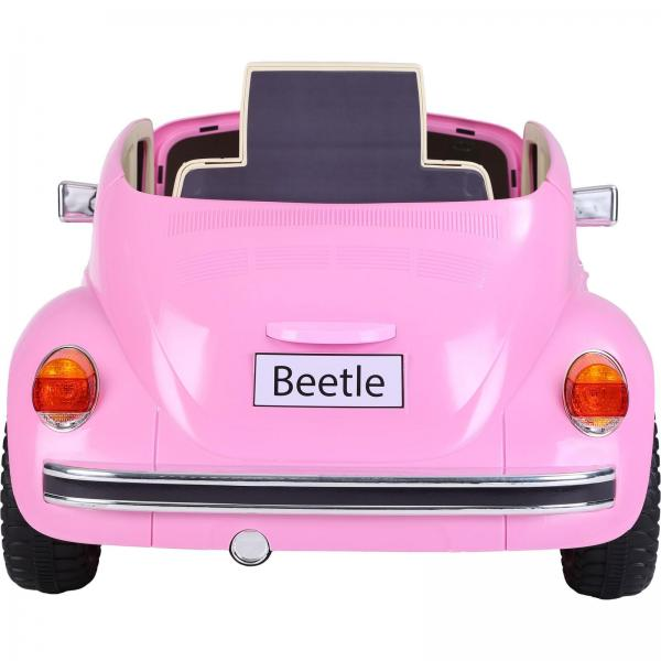 Licensed Classic VW Convertible Beetle 12V Ride On Car - Pink-20104