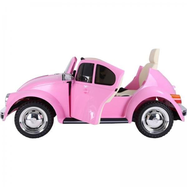 Licensed Classic VW Convertible Beetle 12V Ride On Car - Pink-20100
