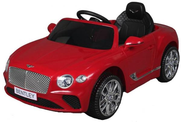 Kids Licensed Bentley Continental GT 12v Electric Ride on Car - Red-0