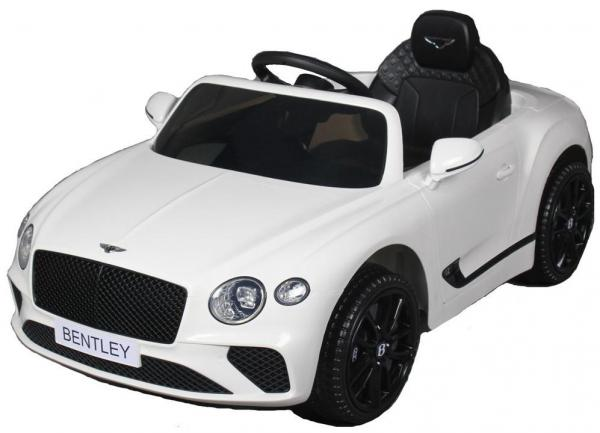 Kids Licensed Bentley Continental GT 12v Electric Ride on Car - White-0