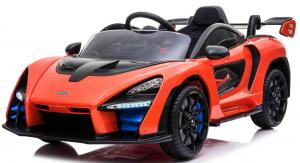 Kids Licensed McLaren Senna Spider 12V Battery Powered Kids Electric Ride On Car Orange