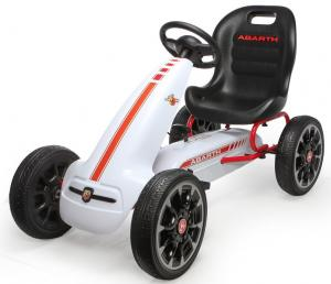 Licensed Abarth Pedal Sports Go Kart  White