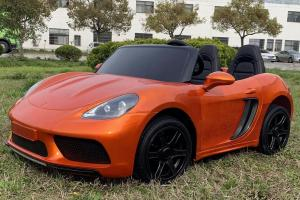 Super Sport Car XL 24V Ride On Car with Twin 180W Motors - 2 Seater Roadster - Orange