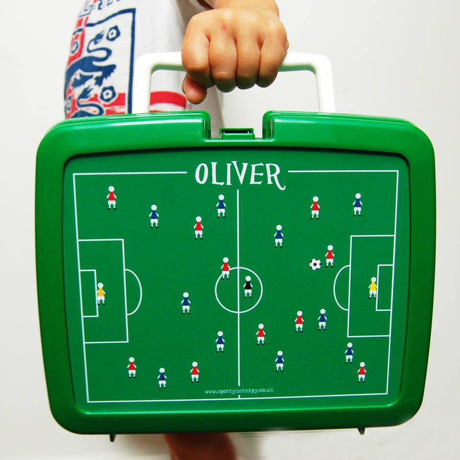 Box Icon Personalised Traditional Football Lunchbox