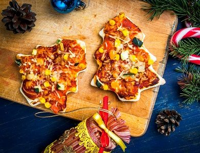 Box Icon 🎄 Mini Christmas Tree Pizzas