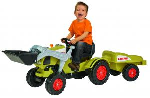 Smoby Claas Celtis Kids Ride On Pedal Loader and Trailer