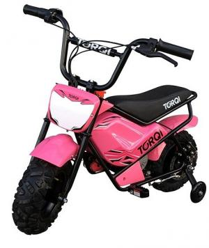 Torqi 250w Electric 24v Battery Dirt Bike / Motorbike Pink