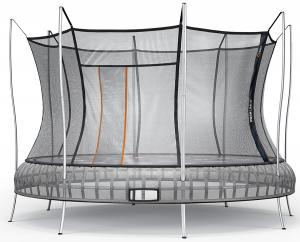 Vuly 14ft Extra Large Thunder Spring Free Round Trampoline