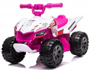 Epic My First Little 6v Ride on Quad Bike - Pink and White