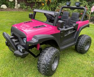 2 Seater Wrangler Style Jeep 12v Electric Battery Ride on Car - Pink