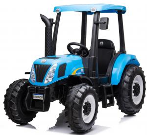 Licensed New Holland T7 12v Electric / Battery Ride on Tractor - Blue