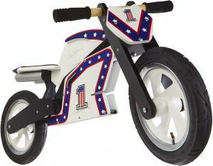 Kiddimoto Official Evel Knievel Replica Wooden Balance Bike