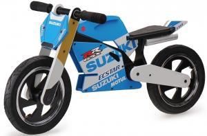 Kiddimoto Official Suzuki Moto GP Superbike Rep Wooden Balance Bike